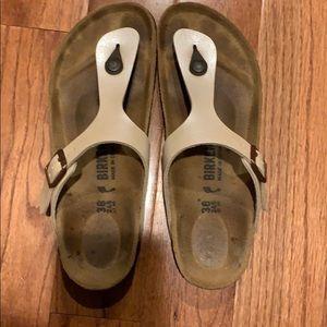 Birkenstock graceful pearl white sandals size 38